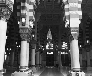 beauty, islam, and black and white image