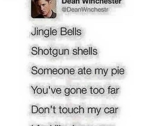 dean winchester, supernatural, and jingle bells image