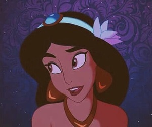 disney, jasmine, and aladdin image