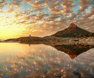 cape town, clouds, and reflection image