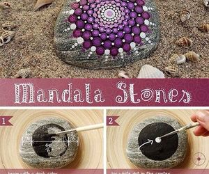 diy, mandala, and paint image