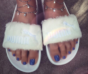 blue, nails, and puma image