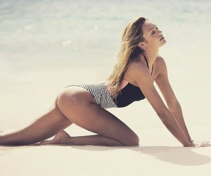 beach, body, and fitness image