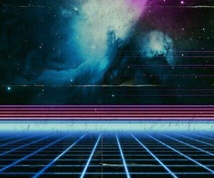 aesthetic, galaxy, and retro image