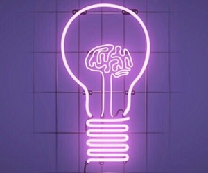 brain, neon lights, and pink image