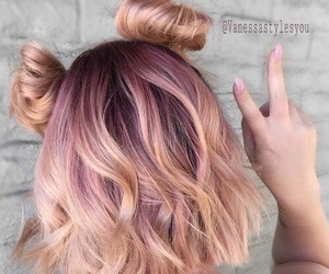 girl, tumblr, and hairpink image