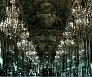 paris, architecture, and chandelier image
