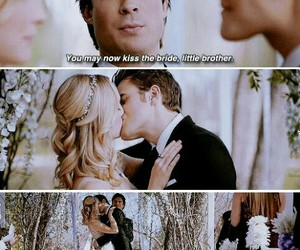 the vampire diaries, stefan salvatore, and caroline forbes image