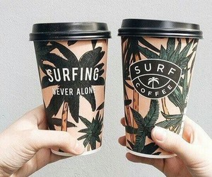 summer, coffee, and surfing image