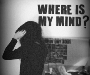 mind, black and white, and pixies image