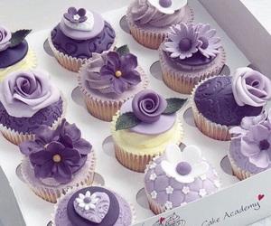 cupcake, purple, and sweet image