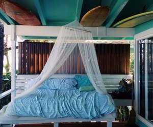 bed, surf, and room image