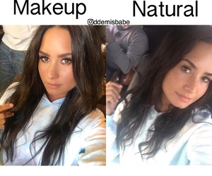 beauty, demi lovato, and blue image