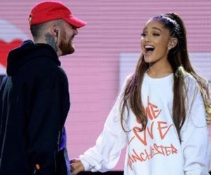 ariana grande, one love manchester, and mac miller image