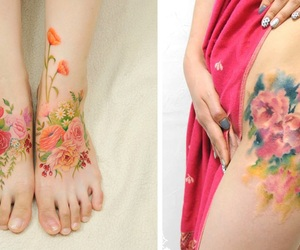watercolor tattoos and ladysuzanne image