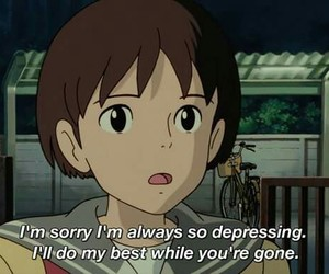 anime, quotes, and depressing image
