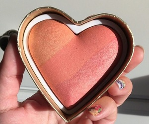 makeup, beauty, and heart image