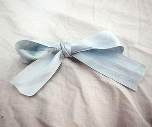 blue, bow, and ribbon image
