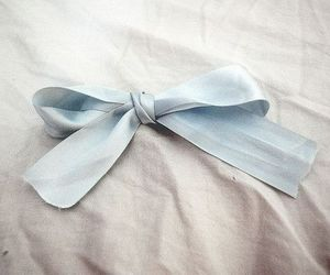 blue, bow, and ribbon image