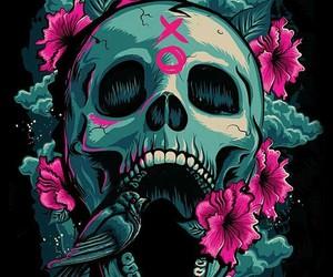 skull, wallpaper, and xo image