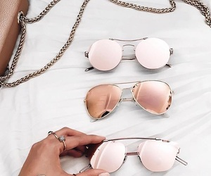 gold, rosegold, and sunglasses image