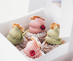bakery, berry, and cake image