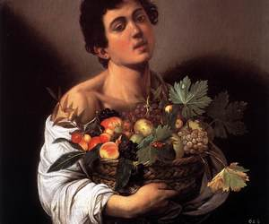 caravaggio, art, and fruit image