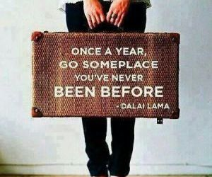 travel, quotes, and dalai lama image