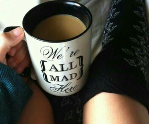 alice in wonderland, coffee, and morning image
