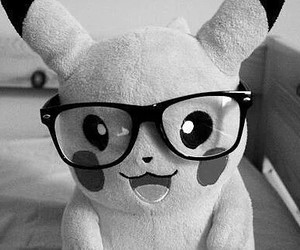 pikachu, glasses, and pokemon image