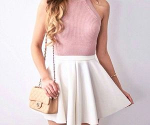 outfit, fashion, and pink image
