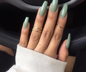 green, makeup, and nails image