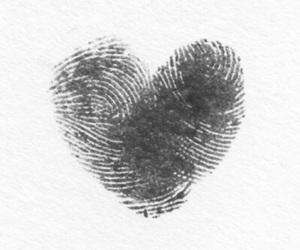 blackandwhite, heart, and love image
