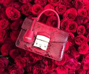 bag, bags, and red image