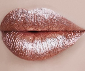 lips, lipstick, and rosegold image