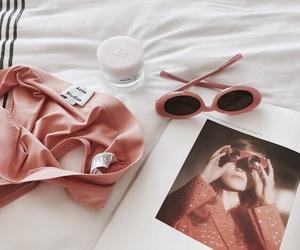 aesthetic, sunglasses, and peach image