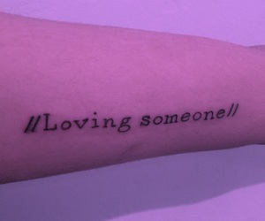 tattoo, loving someone, and the 1975 image