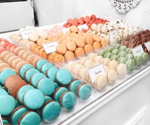 colors, macaroon, and food image