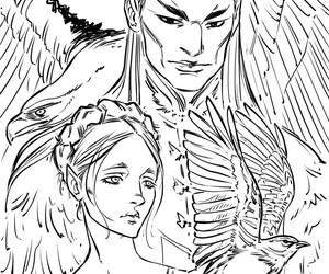 tiras, lark, and bird and sword image