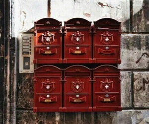 red, gryffindor, and mailbox image