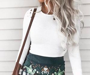 fashion, grey hair, and hair image