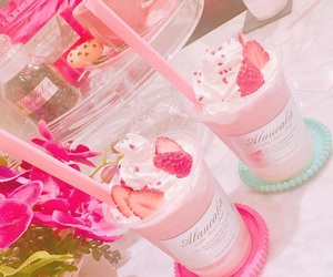 pink, strawberry, and sweets image