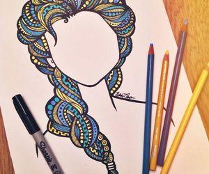 art, drawing, and elsa image