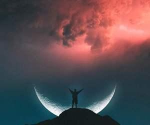moon, photography, and amazing image