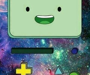 adventure time, bmo, and galaxy image