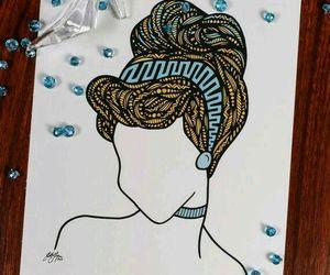 cinderella, disney, and drawing image