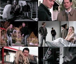 black, supernatural, and dean winchester image