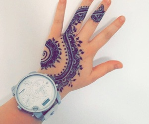 fashion, henna, and summer image