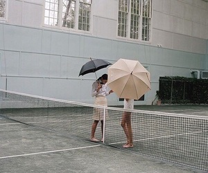 umbrella, tennis, and theme image