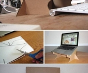 cardboard, diy, and laptop image